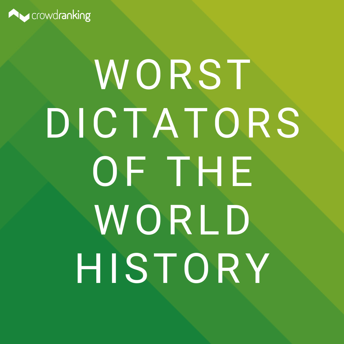 world history the worst dictator of A dictator is a political leader who possesses absolute power country ratings from freedom house's freedom in the world 2017 survey the history of an idea.